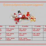 График проведения новогодних праздников